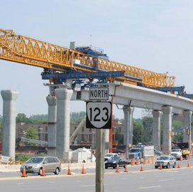 Tysons metro construction